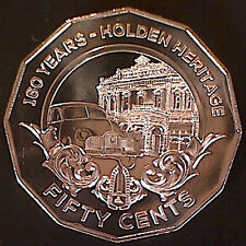 2016 50 cent Holden Heritage Uncoloured Coin & Card: UNC