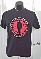 I AM A SOLDIER I FIGHT WHERE I AM TOLD WIN WHERE I FIGHT BLACK T SHIRT LARGE