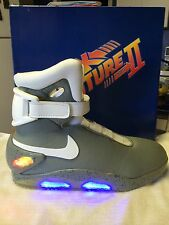 Custom Sz 9 Light Up Back II the Future Sneakers - mcfly mAg 2015 nIkE shoe aIr