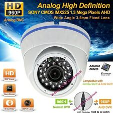 Analog HD 1.3MP SONY CMOS AHD 960P Night Vision Vandalproof Outdoor CCTV Camera