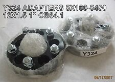 Y324 2 QTY 1'' Wheel Spacer Adapters 5X100-5X4.5 12X1.5 CB64.1