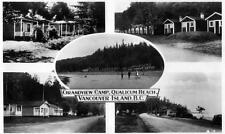 Photo. ca 1934. Qualicum Beach, BC Canada. Grandview Auto Camp