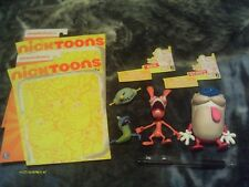 2012 Jazwares Ren and Stimpy action figure lot, Nicktoons, Nickelodeon