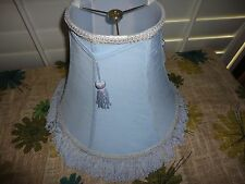 VICTORIAN STYLE FRINGE BLUE TASSELS LAMPSHADE LAMP SHADE 6 X 12 X 10""