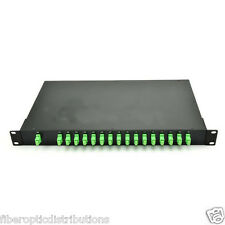 1x16 Fiber PLC Splitter with 1U 19 Rack Mount Metal Box,SC/APC