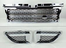 Range Rover Sport 06-09 Chrome Front Bumper Hood Grill & Side Fender Vents