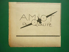 5/1936 PUB AVIONS AMIOT LA QUALITE CHERBOURG CAUDEBEC AVIATION ORIGINAL AD