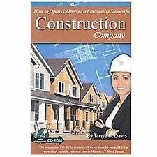 How to Open & Operate a Financially Successful Construction Company - -ExLibrary