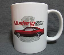 Red 1993 Ford Mustang Cobra SVT Coffee Cup, Mug -Sharp Image- Classic 90's - New