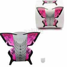 300PCS/Roll Nail Art Tips Butterfly Extension Forms Guide Tool Acrylic Kit