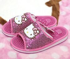 Hello Kitty Acupunture Pink Slipper Shoes Foot Massage Acuppressure Sandal Shoes