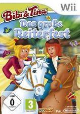 Nintendo Wii Bibi und Tina Das große Reiterfest  Deutsch Sehr guter Zustand