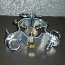 "3 way guy wire collar clamp up to 2"" tube"