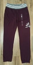 Victorias Secret PINK Ruby Maroon Graphic Slim Vintage Skinny Leg Sweatpants S