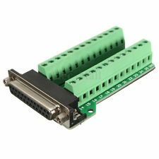 B25 Connector 25 pins Female Adapter RS-232 Port Interface Breakout Board plus