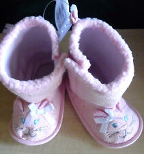 Baby's Pink Sherpa Boots/size 2/9-12 months