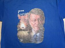 vintage 1986 NO SUBSTITUTE FOR VICTORY JOHN WAYNE MOVIE T-Shirt SMALL thin 80s