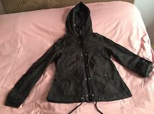 H&M Women's Black Light Jacket Raincoat Hooded Size 8 (European 36)
