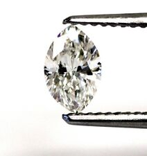 GIA loose certified .60ct SI1 H marquise diamond 7.34x4.69x3.02mm estate vintage