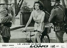 IRINA DEMICK LE JOUR LE PLUS LONG THE LONGEST DAY 1962 VINTAGE LOBBY CARD WW2