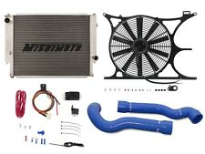 MISHIMOTO BMW E30/E36 Radiator+Shroud+Fan+Hose+PROBE FAN CONTROLLER KIT BLUE