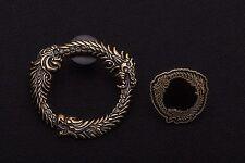 Set of 2 The Elder Scrolls V 5 Skyrim Official Metal Pin - BRAND NEW - Oblivion