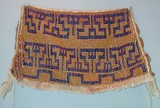 TRADITIONAL APRON AMAZON Wai Wai SEEDS CLOTH CACHE SEX TEXTILE GUYANA ETHNIX