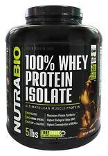 NutraBio - 100% Whey Protein Isolate Dutch Chocolate - 5 lbs.