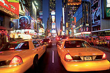 Large bedroom & living room paper wallpaper 232x315cm New York Yellow Taxi Cabs