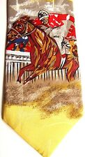 "A. Rogers Men's Sports Novelty Polyester Tie 56.5"" X 3.75"" Horse Racing"