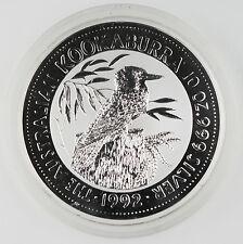 Australia Kookaburra 1992 10 Oz 999 Silver $10 Coin GEM Australian Elizabeth II