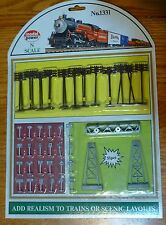 Model Power N Scale #1331 Trackside Assortment -- Includes: 24 Telephone Poles,