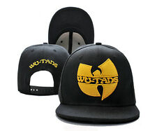 MEN'S Women's Wu-Tang Snapback style Adjustable Baseball hat HIP HOP BLACK cap