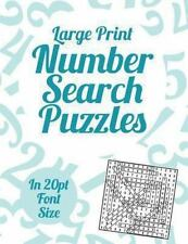 Large Print Number Search Puzzles: A book of 100 Number Search puzzles in large