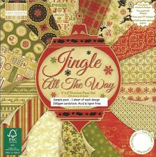DOVECRAFT JINGLE ALL THE WAY  6 X 6 SAMPLE PACK 1 OF EACH - 16 SHEETS