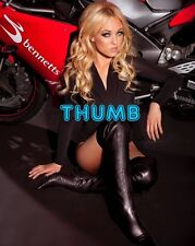 Jorgie Porter, 10x8 inch Photograph #014 in Black Leather Thigh Boots