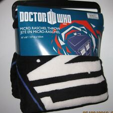 "Dr. Doctor Who THE TARDIS Micro Raschel Fleece Throw Blanket 50"" by 60"""