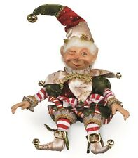 Christmas Elf with pot belly 14.5 inches tall 50774b NEW posable elf