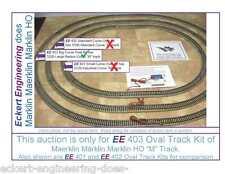 """EE 403 VG Maerklin Märklin Marklin HO 5200 Big Radius Curve """"M"""" Track Oval Kit"""