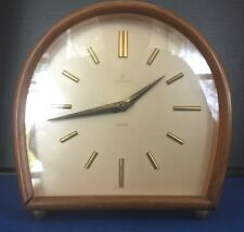 MID CENTURY ART DECO JUNGHANS EXACTA GERMANY 8 DAY MANTLE CLOCK & CHIME WORKS