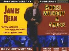 Rebel Without a Cause -Original UK BFI Re-Release British Quad Poster-James Dean