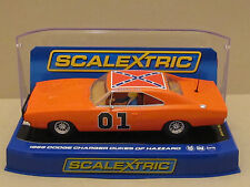 """C3044 SCALEXTRIC 1969 Dodge Charger GENERAL LEE """"DUKES OF HAZZARD"""" Slot Car 1:32"""
