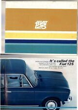 1968 FIAT 125 12 Page Brochure - Opens out to A2 Size