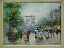 "Painting Of A Beautiful Parisian Street Scene  by John ""Johnny"" Gaston (b. 1955)"