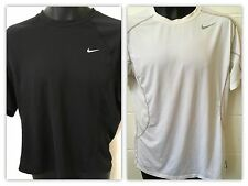 LOT OF 2 NIKE DRI FIT WORKOUT SHIRTS LARGE PRO COMBAT FITTED AND DRI FIT