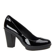 CAMPER BIANCA BLACK PATENT LEATHER COURT SHOES PLATFORM HEELS UK 5 EU38 RRP £130