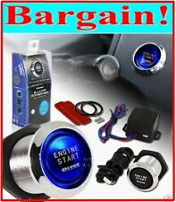 UNIVERSAL CAR ENGINE START PUSH BUTTON SWITCH IGNITION STARTER KIT BLUE LED