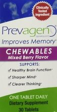 Prevagen Mixed Berry 10 mg Chewable Tablets, 30-Count Bottle - Brand New