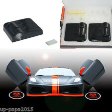 2x For Dodge challenger charger wireless car door LED logo laser projector light