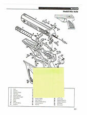 MAUSER HSc AUTO AND HSc (POST 1945) PISTOL EXPLODED VIEW/PARTS LIST 2011 AD